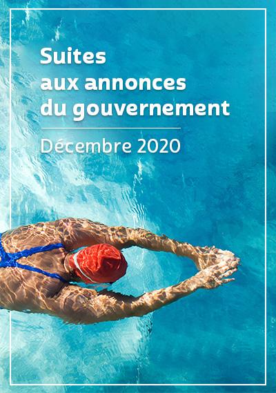 Suite aux annoncent du gouvernements - décembre 2020