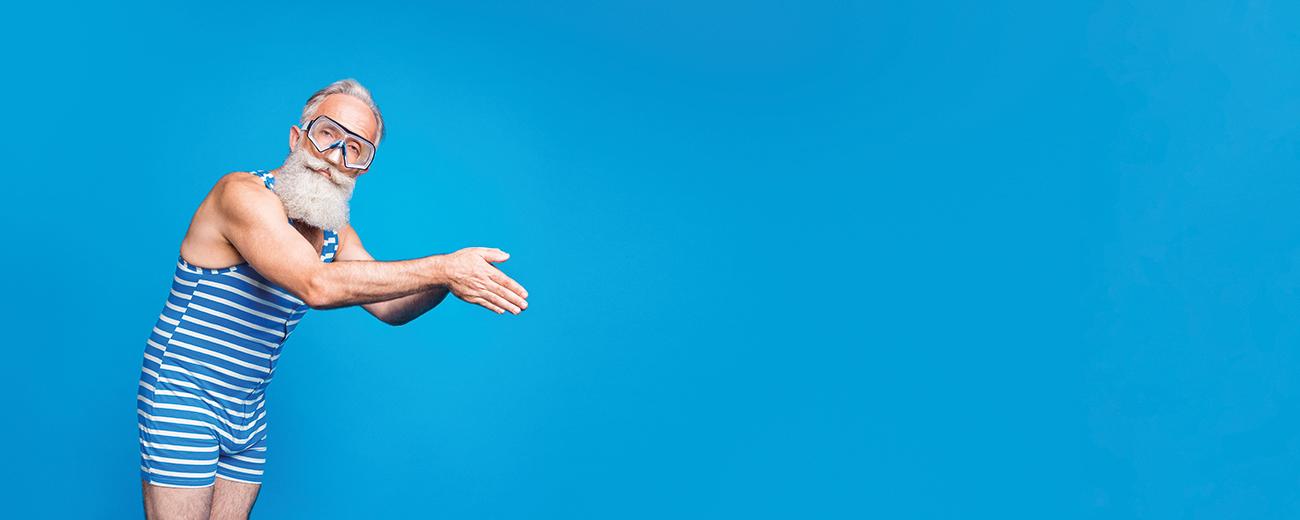 Nageur-sur-fond-bleu